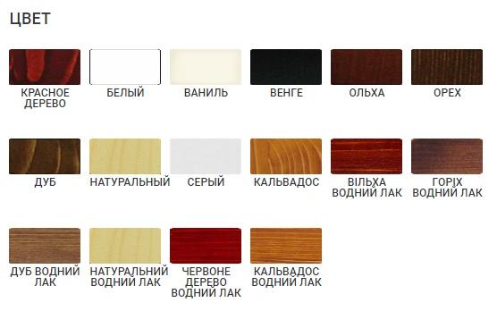 Палитра оттенков мебели Скиф